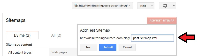 xml sitemap in google search console how to submit it dicc