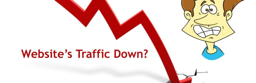 blog traffic down